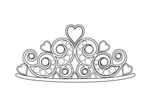 корона с сердечками
