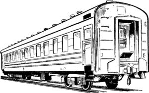 пассажирский вагон поезда