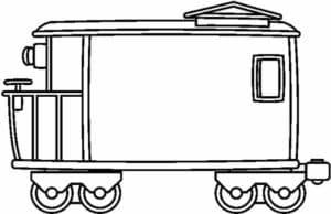 Вагон от поезда раскраска
