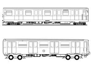 Два вагона раскраска для ребенка