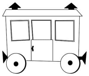 Маленький вагончик раскраска