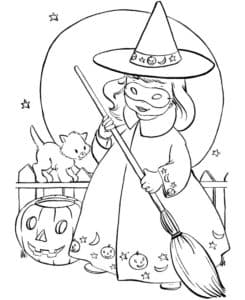 девочка на хэллоуин