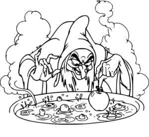 баба яга варит фрукты