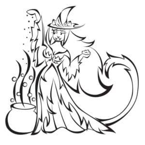 ведьма с хвостом