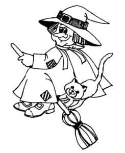 ведьма с котиком