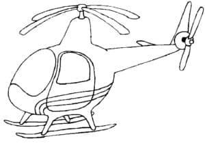 Вертолет на земле