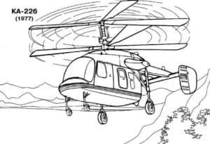 Вертолет КА-226 раскраска