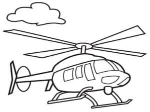 Вертолет раскраска детская