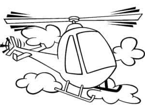Вертолет и облака