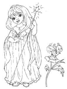 фея и оса на цветке