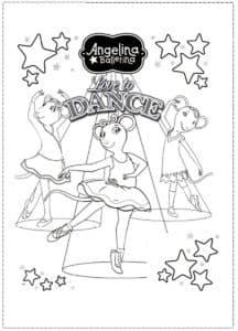 раскраска из мультика про балерин