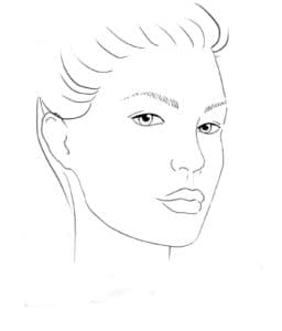 раскраски лица девушек для макияжа а4