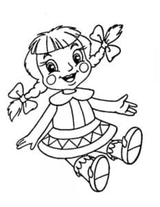 куколка с косичками