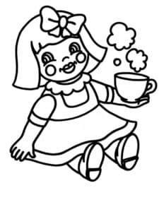 лялька с чашкой