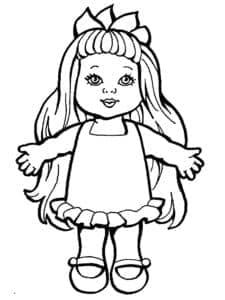 кукла бумажная с одеждой