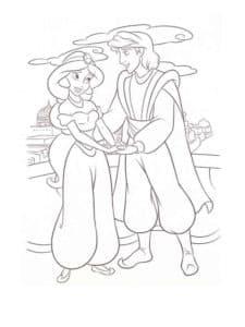 принц и принцесса на природе