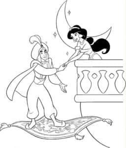 Принцесса жасмин на балконе