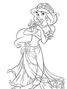 Красавица принцесса раскраска для детей
