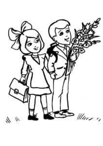 дети с рюкзаком