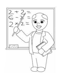 Учитель с уравнениями