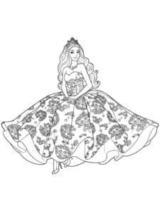 барби в пышном платье