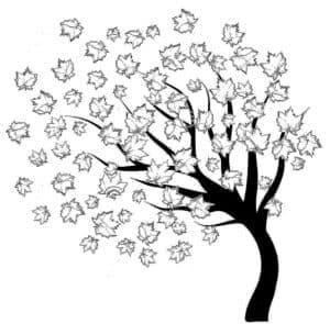 Листья падают с дерева