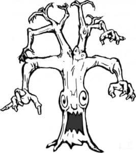 Злое страшное дерево