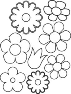 цветы для аппликаций