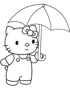 Котик под зонтиком