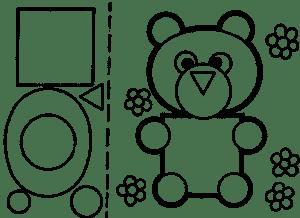 Медвежонок для аппликаций
