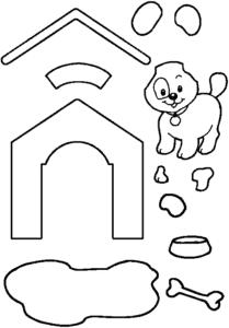 собака с будкой для вырезания