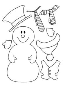 снеговик для аппликаций