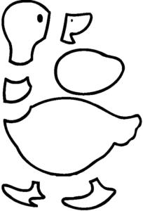 аппликация утка