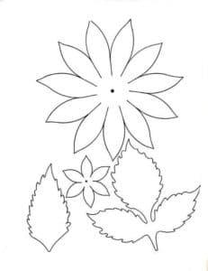 цветочки для вырезания