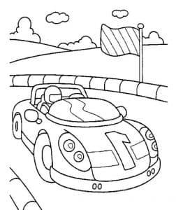 Гоночная машина с номером 1