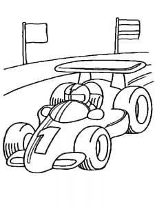 Маленькая гоночная машина