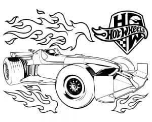 Машина для гонок и огонь