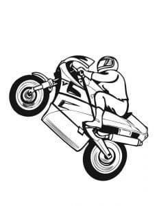 мотоциклист встал на козла