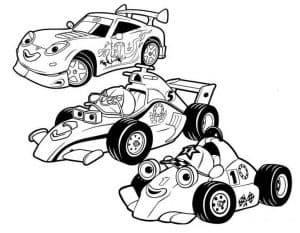 Мультяшные гоночные автомобили