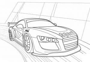 Автомобиль для гонок раскраска детская