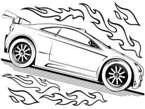 Гоночные машины с пламенем