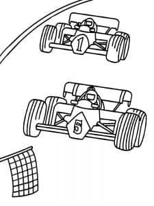 Две машины на гонках