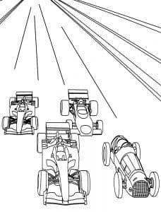 Четыре гоночных авто