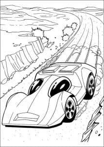 Гоночный автомобиль с глазами