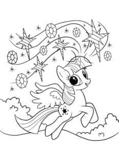 искорка лошадка с звездами
