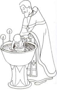 батюшка крестит ребенка