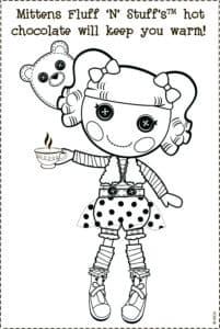 Лалалупси раскраска детская