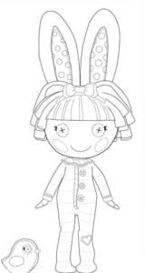Лалалупси раскраска для ребенка