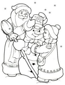 дед мороз снегурочка и снеговик