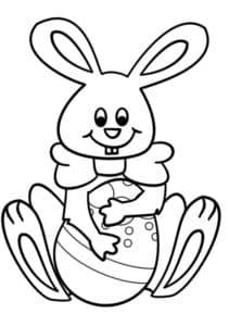 Зайчонок с яйцом